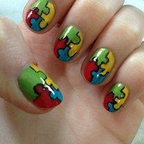 Puzzle na paznokciach - wzory