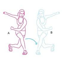 ćwiczenia wyszczuplające uda i łydki - krok 1