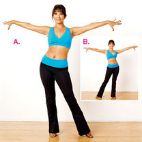 ćwiczenia przez taniec - krok 1