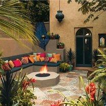 Patio w stylu marokańskim