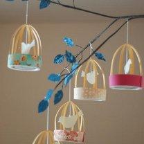 Papierowe ptaszki w klatce