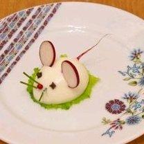 Mysz z jajka na twardo