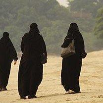 Muzułmanki na plaży
