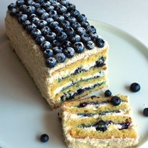 ciasto cytrynowe z borówkami amerykańskimi