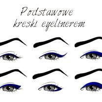 podstawowe kreski eyelinerem