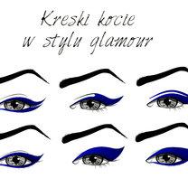 rodzaje kresek eyelinerem - kocie oczy
