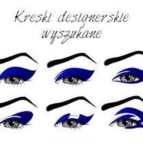 designerskie kreski eyelinerem