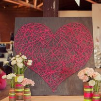 Obraz - serce z nitki