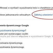 włączanie google safesearch