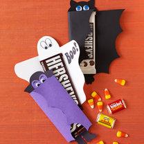 Opakowania na batoniki na Halloween