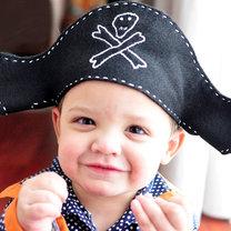 czapka pirata z filcu