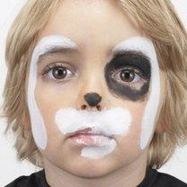 malowanie twarzy piesek - krok 2