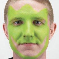 malowanie twarzy dinozaur - krok 1