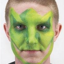 malowanie twarzy dinozaur - krok 2