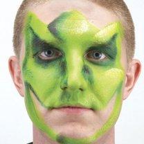 malowanie twarzy dinozaur - krok 3