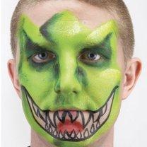 malowanie twarzy dinozaur - krok 4