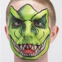malowanie twarzy dinozaur - krok 5