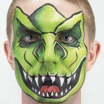 malowanie twarzy dinozaur