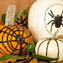 dynie na Halloween - brokat