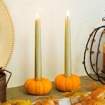 świeczniki z mini dyń