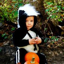 kostium skunksa dla dziecka