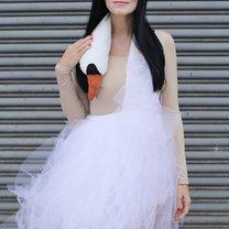 sukienka łabędź
