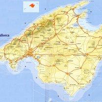 Mapa Majorki
