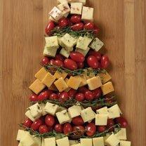przystawki na boże narodzenie - choinka z sera