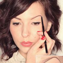 makijaż brwi - krok 2
