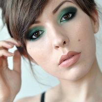 szmaragdowy makijaż oczu