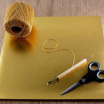 gwiazdki z papieru na choinkę - krok 1