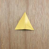 gwiazdki z papieru na choinkę - krok 4