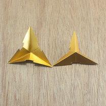 gwiazdki z papieru na choinkę - krok 6