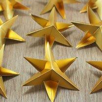 gwiazdki z papieru na choinkę - krok 7