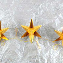 gwiazdki z papieru na choinkę - krok 8