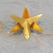gwiazdki z papieru na choinkę - krok 9