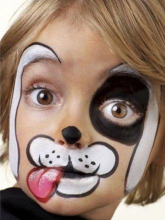 malowanie buziek pies