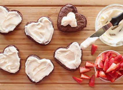 ciasteczka serduszka czekoladowe - krok 5
