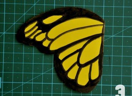 motyle z papieru - krok 4