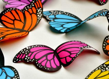 motyle z papieru