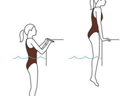 ćwiczenia w basenie - krok 3