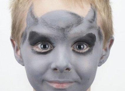 malowanie twarzy diabeł - krok 2