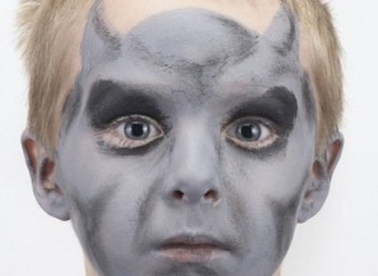 malowanie twarzy diabeł - krok 3
