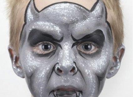 malowanie twarzy diabeł - krok 5
