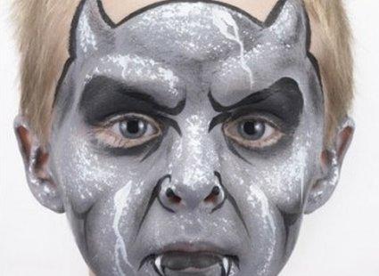 malowanie twarzy diabeł - krok 6