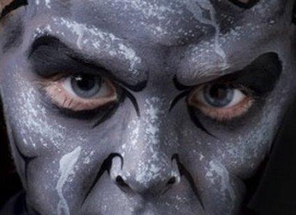 makijaż diabeł