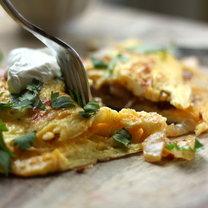 omlet z serem i papryką