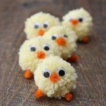 kurczaczki z pomponów