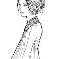 fryzura do sukienki wiązanej na szyi