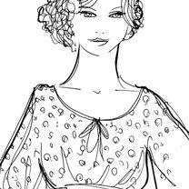 fryzura do sukienki z luźną górą
